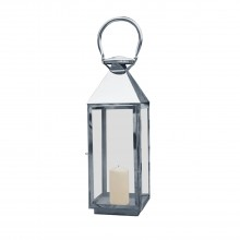 La Hacienda Medium Palma Stainless Steel Lantern