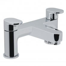 Casa Neon 2 Hole Deck Mounted Bath Filler, Chrome