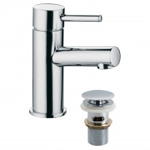 Casa Rondo Mono Basin Mixer & Click Waste, Chrome