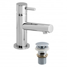 Casa Rio Mini Mono Basin Mixer & Click Waste, Chrome
