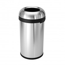 Simplehuman Bullet Open Top Bin, 60 Litre, Brushed Stainless Steel