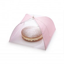 Food Cover Pink Polka