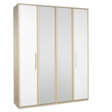 Casa Zara Tall 4 Door Hinged Wardrobe