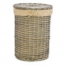 Casa Round Willow Laundry Basket Medium, Grey