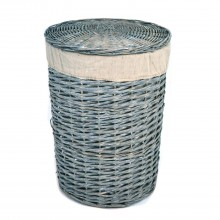 Casa Round Willow Small Laundry Basket, Grey