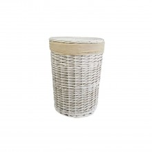 Casa Willow Round Basket, Medium, White