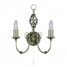 Zanzibar Wall Light, Antique Brass