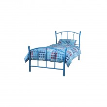 Casa Penny Single Bed Frame, Blue