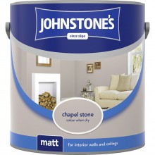Johnstones 2.5l Matt Emulsion, Stone