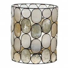 Capiz Shell Cylinder Ceiling Shade, Small