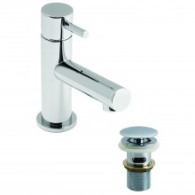 Casa Calgary Mini Mono Basin Mixer Single Lever Without Clic Waste, Chrome