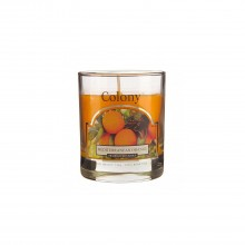 Colony Glass Small Candle Mediterranean