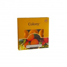 Colony Tealights box of 9 Mediterranean Orange