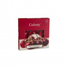 Colony Tealights box of 9 Red Cherries