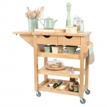 T And G Woodware Viva Trolley Flatpack, Hevea