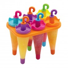 Kitchencraft Set Of Six Umbrella Lolly Makers With Stand
