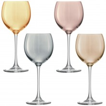 Lsa Polka Wine Glass X 4