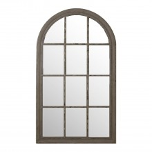 Casa Arch Window Mirror, Grey