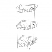 Showerdrape Phoenix Corner Floor Caddy, White