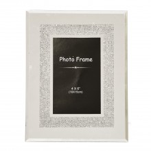 Diamante Border Frame 4x6""