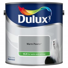 Dulux 2.5l Silk Standard Emulsion Paint, Warm Pewter