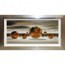 Complete Colour Golden Spheres Print Liquid Art