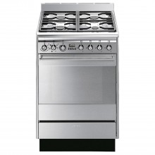 Smeg SUK61MX8 Cooker 60cm, Stainless Steel