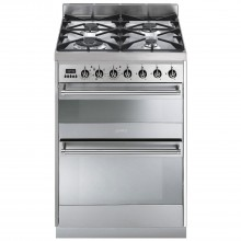 Smeg SY62MX8 Cooker 60cm, Stainless Steel