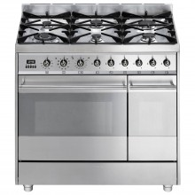 Smeg Sy92px8 Cooker 90cm, Stainless Steel
