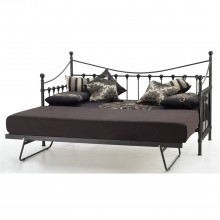 Casa Marseilles Single Day Bed With Guest Bed, Black