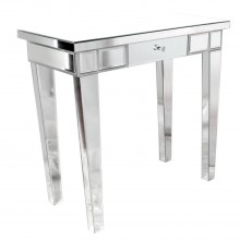 Single Drawer Console Table, Mirrored Finish