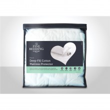 Fine Bedding Company Deep Fill Cotton Mattress Protector Single