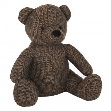 Fabric Bear Doorstop, Brown
