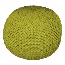 Casa Knitted Pouffe, Lime