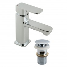 Casa Palma Mono Basin Mixer With Clic Clac Waste, Chrome