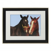 Casa Black Framed Horses, Brown