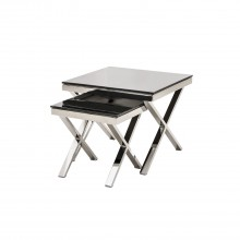 Casa Zara Nest Of Tables Nest Table, Silver