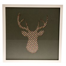 Casa Stags Head Grey / Pastel Spot