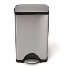 Simplehuman 38 Litre Bin, Brushed Steel
