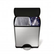Simplehuman 46 Litre Bin, Brushed Steel
