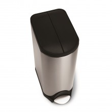 Simplehuman Butterfly Pedal Recycler Bin, 30 Litre, Brushed Stainless Steel