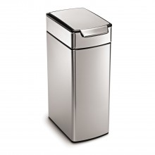 Simplehuman 40 Litre Bin, Brushed Steel