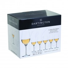 Dartington Crystal White Wine Gift Box Set of 6