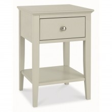 Casa Ashby 1 Drawer Nightstand, Cotton