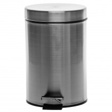 Casa 3 Litre Pedal Bin, Brushed Chrome