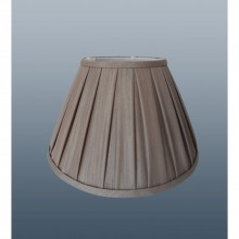 "12"" Enya Box Pleat Shade, Mink"