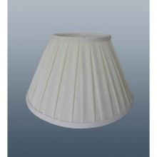 "16"" Enya Box Pleat Shade, Cream"