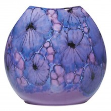 Poole Pottery Jasmine Purse Vase 20cm, Lilac