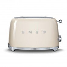 Smeg 2 Slice Toaster Tsf02, Cream