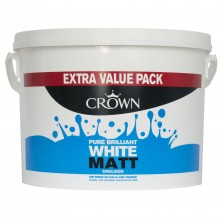 Crown 7.5l Matt Emulsion Pure Brilliant White